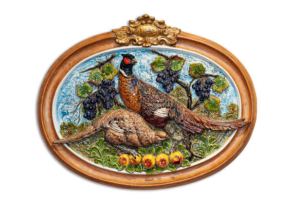 CEC-525 Terracotta Wall Panel with Pheasants