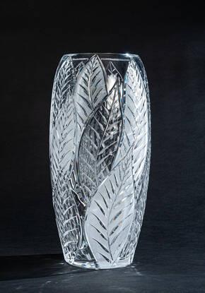 CEV-110099TR Clear Satin Crystal Vase