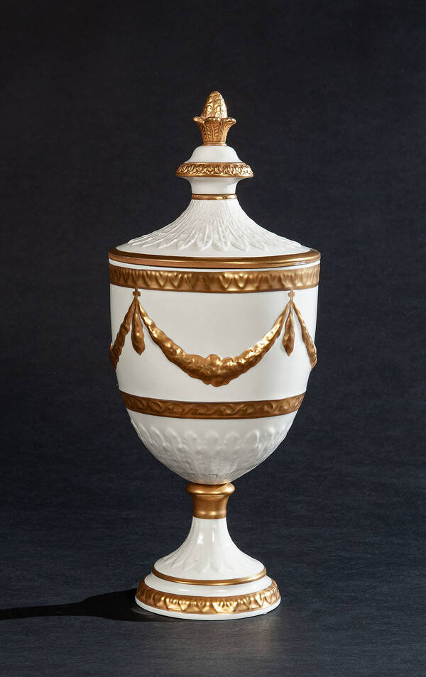 PV-3104-04 Festoon Porcelain Urn