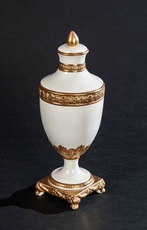 PV-3270-04 White Porcelain Urn