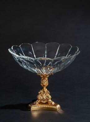 V-1268 Crystal Pagani Round Jardiniere