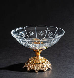 V-1306BIS Clear Crystal Compote