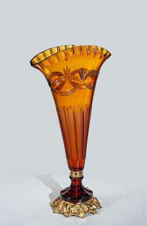 V-1508-A Amber Crystal Vase
