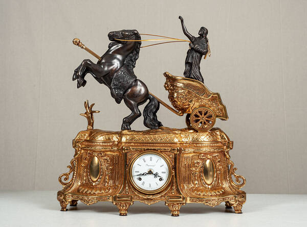 F-OB-44 Old Gold Mantle clock