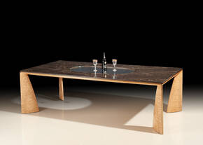 PRO-2600 Marble and Glass Dining Table